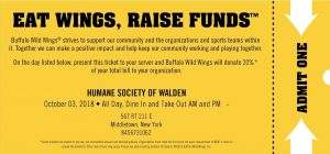 Eat Wings, Raise Funds @ Buffalo Wild Wings