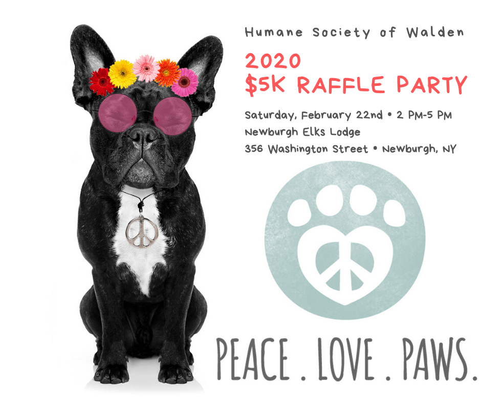 """Peace, Love & Paws"" – $5K Raffle Party 2020"